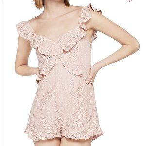 BCBG Rose Smoke Lace Romper